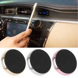 Wholesale Stick Magnetic Car Phone Holder Universal Mini Cell Phone Car Mounts With Retail Package For iPhone Plus Smartphones GPS Devices