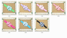 Discount shades hair color 14pcs shades of grey children golden arc bowknot bud silk ribbon of hair headband hair band HD056