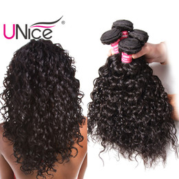 Wet Wavy Human Hair Extensions NZ - UNice Hair Remy 8a Brazilian Water Wave 5 Bundles 100% Human Hair Extensions Wholesale Cheap Hair Weaves Nice Bulk Wet And Wavy 8-26inch
