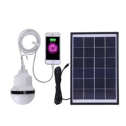 Wholesale Solar lantern Led Solar Garden Bulb For Camping Lighting With Panel and Rechargeable Bulbs Tent Lighting