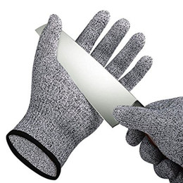 Metal gloves butchers online shopping - Safety Anti Cut Resistant Gloves Cut Proof Stab Resistant Metal Mesh Butcher Gloves Food Grade Level Kitchen Tools B
