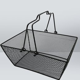 Wholesale metal mesh shopping basket for grocery, cosmetics, baby clothes, picnic with handle