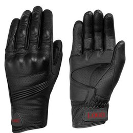 Leather Race Gloves Motorcycle NZ - spoolu etbike leather gloves motorcycle riding full leather gloves punched breathable Outdoor sports cycling Racing bike
