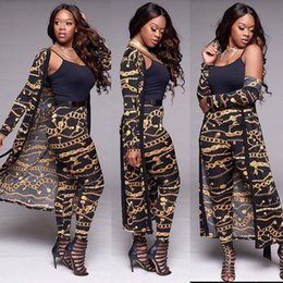 african print two piece dresses NZ - 2018 Summer 2 Piece Set Women Dashiki Dress sets Fashion sexy gold chain print Traditional African Clothing African Clothes