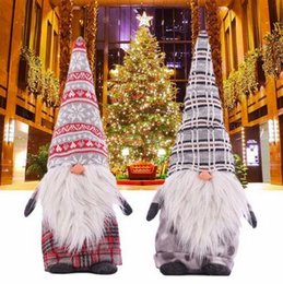 $enCountryForm.capitalKeyWord Australia - Christmas Tomte Santa Claus Dolls Xmas Tree Standing Figurine Forest Ornaments Kids Christmas Gifts Toy Home Decorations
