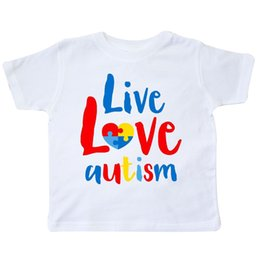 $enCountryForm.capitalKeyWord Australia - Inktastic Live Love Autism Toddler T-Shirt Awareness Jigsaw Puzzle Heart Asd Kid Funny free shipping Unisex Casual tee gift