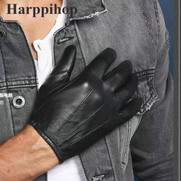 $enCountryForm.capitalKeyWord Australia - 2016 new free shipping 100% Sheep Skin Touch Screen Men Gloves Classic Style Pure Genuine Leather Gloves For Winter Men's Glove C18111501