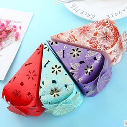 Pack Supplies Australia - 10pcs Candy Box Wedding Gift Packing Box Cake Shape Gift Bag Baby Shower Birthday Wedding Guest Favors Event Party Supplies