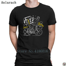 Neck Gear Australia - Fixed Gear t-shirt Tee top Character Spring Unique t shirt for men Breathable streetwear O Neck Interesting
