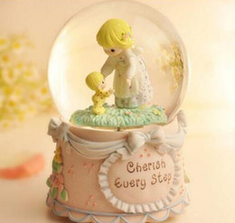 Water And Cr Ystal Ball Doll Music Box Creative Gift Girl Friend Birthday