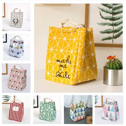 lunch bags for kids 2019 - Waterproof Lunch Bag for Women kids Men Cooler Lunch Box Bag Tote canvas lunch bag Insulation Package Portable LE40 chea