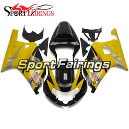 k1 cover NZ - Yellow Black Full Motorcycles Fairings For Suzuki GSXR600 GSXR750 2000 2001 2002 2003 K1 ABS Plastics Injection Bodywork Covers Free Gifts