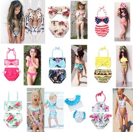 $enCountryForm.capitalKeyWord Canada - 22 Color INS Unicorn Girls Floral Swimwear Halter Rompers Swimsuit Childrens Clothing Two-Pieces Bikinis Beach Bathing Suit One-Pieces LC737