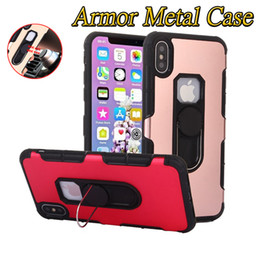 $enCountryForm.capitalKeyWord NZ - Hybrid Armor Metal Case for iphone X XS XR XS MAX 360 Rotating Finger Ring Magnetic Mobile Phone Case