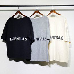 Loose tshirt online shopping - Fear of god men t shirt kanye west fog loose ovesized high street essentials hip hop cotton half tshirt tops tee t shirt