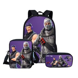 China Kids Fortnite Bag Sets Lunch Box Pencil Case Shoulder Bag The Fortress Night Teenager Backpack Students Schoolbag 62yw gg cheap box student pencil suppliers