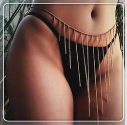 $enCountryForm.capitalKeyWord Australia - Fashion Sexy Bohemian Gypsy Retro Dancer Bikini Single Layer Tassels Body Chain Belly Chains Jewelry line Accessories Metal material
