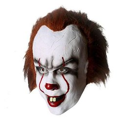 Christmas Movie Costumes UK - Christmas mask TOY Pennywise Costume It The Movie By Stephen King it Scary Clown Mask Men's Cosplay Prop free shipping