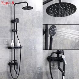 $enCountryForm.capitalKeyWord Australia - Shower Faucet Bathroom ORB Rainfall Shower Set With Sprayer Bidet Mixer Tap Wall Mount Shower Faucets