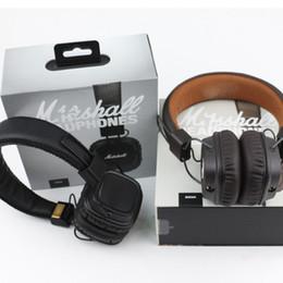 Iphone II online shopping - Major II Bluetooth Headset Earphone Hi Fi Headphone Marshall Major headphones for iPhone Samsung Smart Phone Deep Bass Noise Isolating