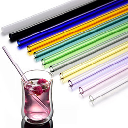 Colored Lipsticks NZ - 5pcs lot Women Lipstick Protecting Colored Straight Glass Straws Pipet Reusable Wedding Birthday Party Drinking Straws Barware