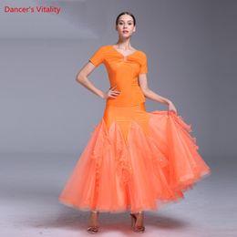 $enCountryForm.capitalKeyWord Australia - Girls Modern Dance Diamond Top Cut out Splicing Skirt Suits Competition Performance Clothes Women Ballroom National Standard Waltz Dancewear