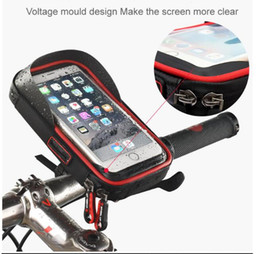 $enCountryForm.capitalKeyWord NZ - 6 inch Bike Bicycle Waterproof Cell Phone Bag Holder Motorcycle Mount for Samsung galaxy s8 plus iPhone 7 plus LG V20 Mate 9