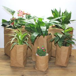 Discount flower pots covers 2018 flower pots covers on sale at 2018 flower pots covers mini succulents kraft paper flower pot cover washable storage bags plants flowerpot mightylinksfo