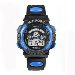 Men Digital Wrist Watches NZ - Waterproof Mens Boy's Digital LED Quartz Alarm Date Sports Wrist Watch Mens Watches Top Brand Luxury Erkek Saat Watch Men Saat