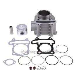 Para Motor da motocicleta GY6 125CC 150CC Cylinder Kit Pistão Junta 58,5 milímetros Diâmetro em Promoção