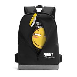 f8298cd3e8 Funny Emoji Backpack 3D Cute Smile Print Schoolbag Oxford student Backpacks  for Teenage Girls Travel School Bag Bolsa