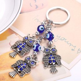 Lucky Eye Blue Evil Eye Dolphin Keychain Crystal Animal Pendent Key Chain Car Key Chain For Women Men Jewelry Gifts Ey4931 With A Long Standing Reputation Key Chains