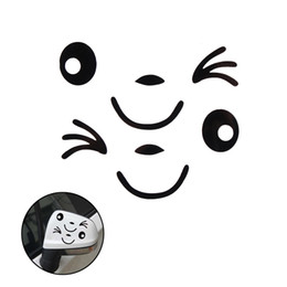 Car body deCal stiCker design online shopping - 2PCS New Waterproof D Design Smile Face Decoration Decal Sticker For Car Side Mirror Rearview Auto Car Styling Car Sticker