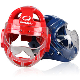 Head Protection Gear Australia - Top Brand Mma Karate Muay Thai Kick Training Helmet Boxing Head Guard Protector Headgear Sanda Taekwondo Protection Red Blue