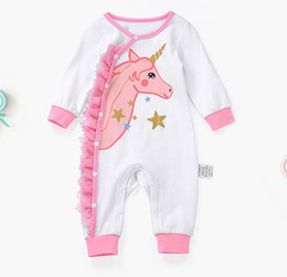 $enCountryForm.capitalKeyWord UK - Baby Unicorn Long sleeve romper baby girls romper Infant cartoon jumpsuits girl summer clothing baby pajamas