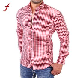 Fit Blouse Canada - 2018 Autumn Winter Mens Shirts Man's Long Sleeve Plaid Stand Collar Social Casual Blusa Fashion Slim Fit Hight Quality Blouse