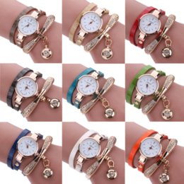 $enCountryForm.capitalKeyWord Canada - Bracelets 2017 Womens Luxury Rhinestone Multilayer Leather watch Analog Quartz Wristwatch for Women Bangle Jewelry Drop Shipping
