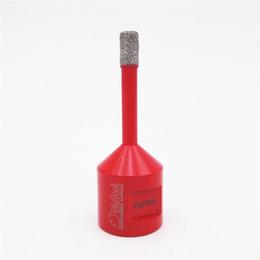 DIATOOL 1 stück Vakuum Gelöteten Diamant Bohrkronen M14 Verbindung Lochsäge Für Granit Marmor Keramik Mit 10 MM Diamant Höhe im Angebot