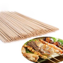 white bamboo charcoal UK - Bbq Bamboo Skewers Grill Shish Kabob Wood Sticks Barbecue Bbq Tools Churrasco Grill Accessories 1 Pack LPT6693