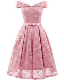 $enCountryForm.capitalKeyWord UK - Spring and summer new fashion women's sexy dress, a word collar wrapped chest lace long lace dress party dress.