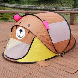 $enCountryForm.capitalKeyWord NZ - 140*135*cm Children Outdoor Bear Tent Beach Tent Baby Play Game House Kids Princess Prince Castle Indoor Outdoor Child Toys