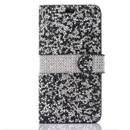Lg diamond waLLet online shopping - For iPhone Galaxy ON5 Wallet Diamond Case iPhone Case LG K7 Stylo Bling Bling Case Crystal PU Leather Card Slot Opp Bag by niubility