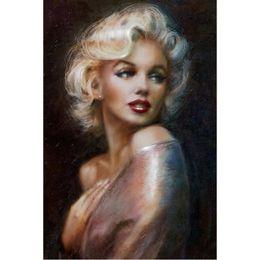 free marilyn monroe paintings 2019 - Marilyn Monroe Sexy 100% Full Drill Diamond Painting 5D Diamond Mosaic Cross Stitch Embroidery Handmade Home Decor (Free