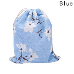Chinese  2018 Gift Bags Linen Travel Drawstring Pouch Dry Pouches Gift Jewelry Packing Bag S-L 3 Different Size manufacturers