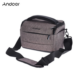 Dslr Cameras Bags Australia - Andoer DSLR Camera Bag Fashion Polyester Shoulder Bag Camera Case for Canon Nikon Sony FujiFilm Olympus Panasonic DSLR Cameras
