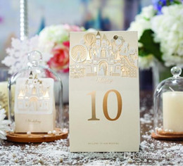 card castle NZ - Place cards for Wedding Table Number Cards Romantic Sweet Castle Place Card Wedding Supplier Free Shipping