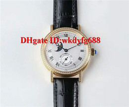 Mechanical Moonphase online shopping - GXG factory Luxury CLASSIQUE Diamond mens watches Cal R Automatic Moonphase gold L Steel Sapphire Crystal black calfskin strap
