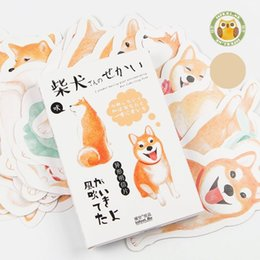 Postcard greeting cards online shopping - Cute Shiba Inu Postcard Creative Illustrations Thicken Paper Post Card Birthday Party Decorations Greeting Cards New Arrival sg BW
