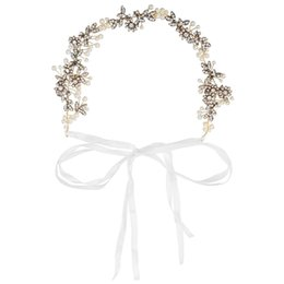 Chinese  wedding Hair Crowns Flower Headbands Women Artificial Floral Hairbands Fashion Headwear for Girls Hair Accessories Beach Wedding Garlands manufacturers
