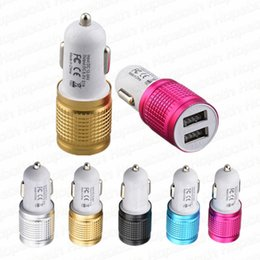 2.1 usb universal car charger Australia - Car Charger Universal Metal Dual USB Port 2.1 A Led Charging Adapter For iPhone 6 7 8 Samsung S8 Tablet Nokia
